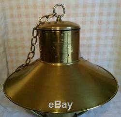 1883 Scott Lamp Co. Ltd. Antique Brass Hanging Nautical Cabin Oil Lamp Lantern