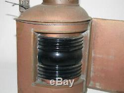 3 Vintage Antique Perko Brass Nautical Oil Lamps Maritime Ship Lanterns