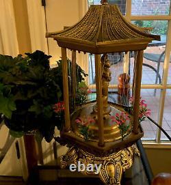 70s Mineral Oil Rain Lamp, Nude Greek MCM Goddess Table Lamp, WORKS
