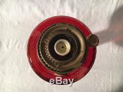 ALADDIN ANTIQUE KEROSENE OIL LAMP MODEL B-83 RUBY red BETA CRYSTAL BEEHIVE
