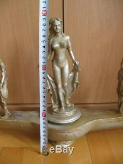 ANCIENT ROMAN DECORATIVE SILVER OIL LAMP WITH 3 FIGURES OF VENUS 1-2 ct. AD