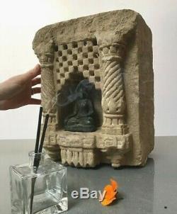 ANTIQUE/ VINTAGE. HUGE 19th c. INDIAN SANDSTONE NICHE FOR OIL/ GHEE LAMP. JODHPUR