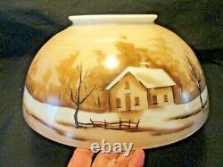 Antique14 Hanging Oil Lamp Shadehouse Wrap-a-around Scene