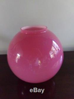 Antique 10 inch Cased Oil Lamp Ball Shade. 4 inch fitter