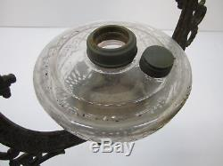 Antique 1800s Bradley Hubbard Cast Iron Horse Hanging Oil Lamp Pulley For Parts
