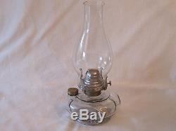 Antique 1883 Brass Copper Queen Ann Victorian Adjustable Hanging Oil Lamp Birds