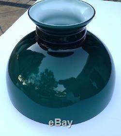 Antique 1889 BRADLEY & HUBBARD B&H OIL KEROSENE LAMP w Original Glass Shade
