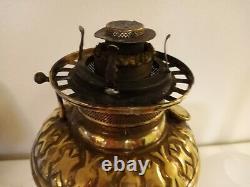 Antique 1893-1904 Brass Banquet Parlor Victorian Oil Lamp