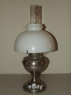 Antique 1895 Edward Miller Kerosene Oil Gwtw Table Lamp