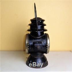 Antique 1911 RAYO Carriage Buggy Automobile Kerosene Oil DRIVING LANTERN LAMP