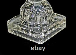 Antique 19th Century Boston Sandwich Clear Glass Whale Oil Lamps As Is