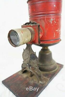 Antique 19th Century Circa 1880 German Oil Lamp Magic Lantern Projector