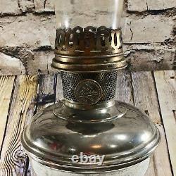Antique ALADDIN Kerosene Oil Table Lamp Model Number 11 Base Original Chimney
