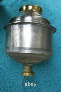 Antique ANGLE LAMP CO Oil Kerosene Embossed Nickel and Brass FontStock Part bt