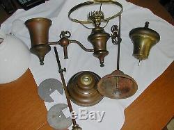 Antique A. L. Baron Student Oil Lamp