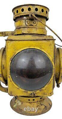 Antique Adams Westlake Pennsylvania Railroad PRR Caboose Oil Lantern Lamp Signal
