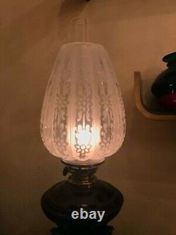 Antique Art Nouveau Metal Brass Marble Mixed German Kerosene Oil Lamp