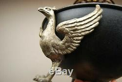 Antique B&h Egyptian Revival Art Deco Oil Lamp Base Whimsical Sphinx Phoenix