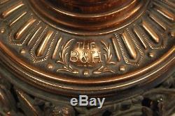 Antique B&h Oil Kerosene Cherub Angel Victorian Gwtw Lamp Parts Dragon Figural
