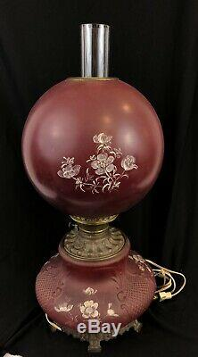 Antique Banquet Oil Lamp Gone with the Wind Oil Lamp with flowers