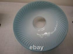 Antique Blue Swirl Parlor/table/ Gwtw Oil/kero Lamp Shade Signed Pantin & Depose