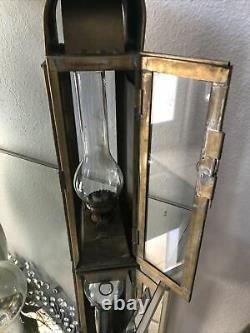 Antique Bosun Light NO 1889 GB 1926 Cabin Lantern Oil Lamp