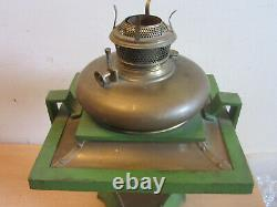 Antique Bradley & Hubbard B&H Mission Arts & Crafts Oil Lamp Brass, Painted #170