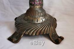 Antique Bradley & Hubbard Style Table Parlor Oil Lamp Base Look! -BM