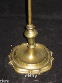 Antique Brass Adjustable 3 Wick Oil Lamp ca. 1900's