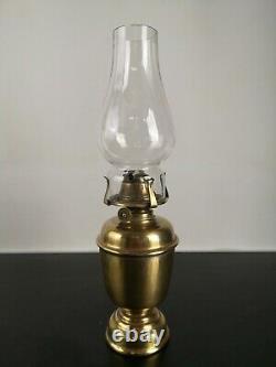 Antique Brass Ship's Oil Lamp & Nautical Wall Bracket Gimbal Gyroscope Compass
