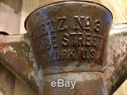 Antique Dietz No. 3 Globe Tubular Kerosene/Oil Street Lamp