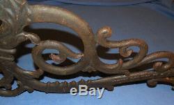 Antique Dietz No. 3 Scrolled Cast Iron Lamp / Lantern Wall Bracket Circa 1900