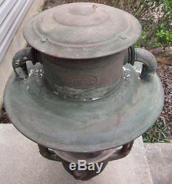 Antique Dietz Pioneer Street Oil Lamp Pole Lantern Maryland MD Estate Barn Find