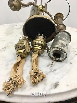 Antique Double Student Desk Oil Lamp Kosmos Brenner (Burner) Not Converted