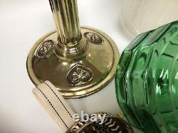 Antique Duplex Oil Lamp With Brass Arts & Crafts Base British Made Burner