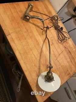 Antique Faries Swing Arm Industrial Lamp