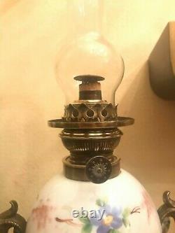 Antique French Amazing Beautiful Kerosene Oil Lamp