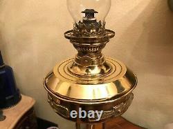 Antique German Brass Kerosene Oil Lamp
