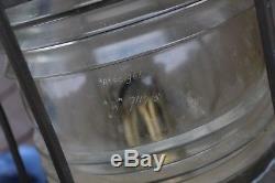 Antique Giant Brass/Copper Ship Anchor Lantern Lamp Nautical Oil Burner