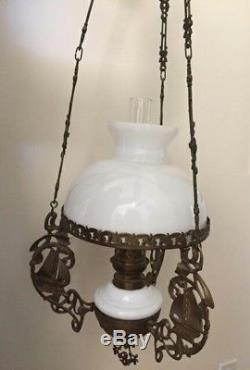 Antique Hanging Karosene Nautical Oil Lamp Sailing Ship