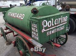 Antique Horse Drawn Standard Polarine Lamp Oil Buggy 1890s Restored Wood Wheels
