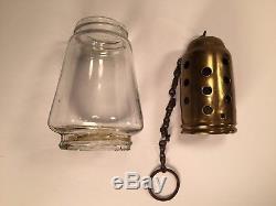 Antique Hurricane Lantern Co. Brass Kerosene Skaters Lamp. Patented 1800's, Oil