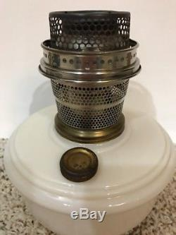 Antique Kerosene Oil Aladdin Hanging Lamp With Glass Shade and Font