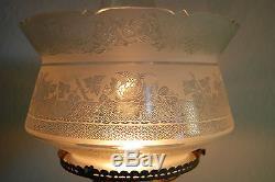 Antique Kerosene Oil Gwtw Parlor Banquet Victorian Boston Sandwich Glass Lamp