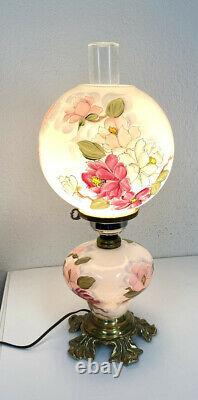 Antique Large Hurricane GONE WITH THE WIND OIL LAMP electrified Jan Curtis Art