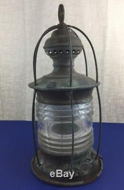 Antique Marine Oil Ships Lamp Lantern Light Large 16.5 Perko Perkins
