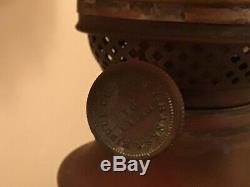 Antique Mid 1800s Brass Student Library Bailey Banks Biddle Converted Oil Lamp