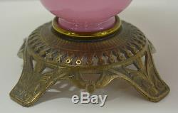Antique Miniature Banquet Lamp Plume & Atwood Kerosene
