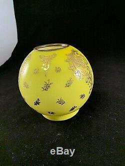 Antique Miniature Oil Lamp Ball GWTW Shade