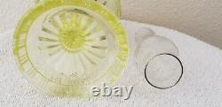 Antique Miniature Oil Vaseline Stem Lamp Buckle Pattern withClear Chimney S1-118